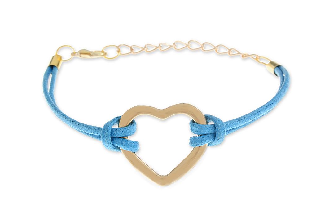 b1c0a2ecf0 Niebieska Bransolet Otwarte złote Serce dla ukochanej  Sklep z ...
