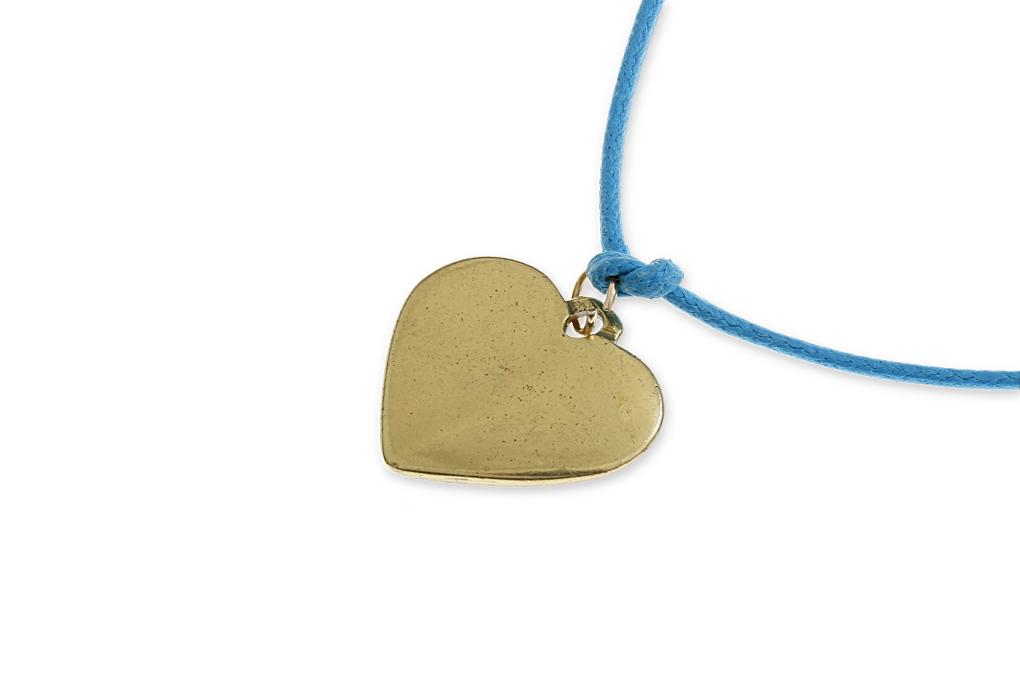 f093334662 Niebieska Bransoletka Złote Serce dla ukochanej  Sklep z Biżuterią ...